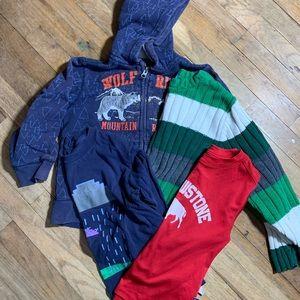 B1G1 Bundle boys tops size 5 long sleeve 4 items